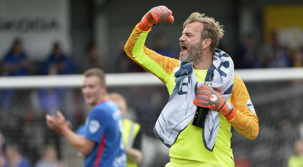 Linfield Roy Carroll caused controversy at Solitude last month.