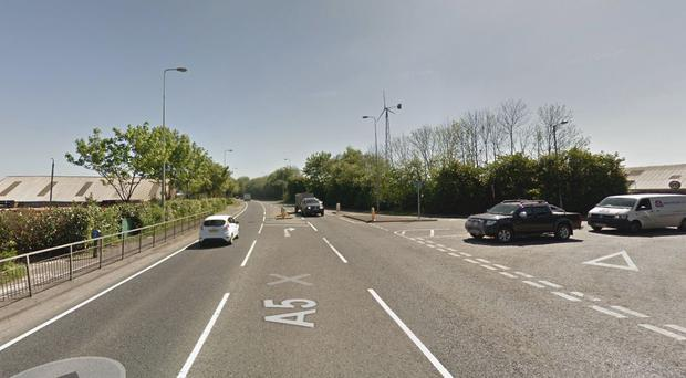 Scene of the crash on the Great Northern Road in Omagh. Pic Google Maps