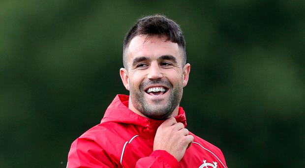 Upbeat: Conor Murray at Munster training this week