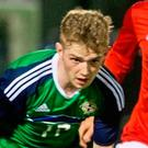 Timely boost: Jamie McGonigle netted twice on Monday night