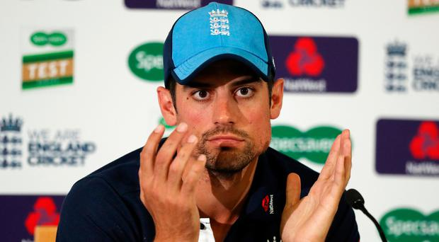 Emotional time: Alastair Cook