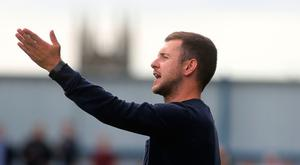 Still believing: Stephen McDonnell believes Warrenpoint will start racking up points sooner rather than later, though his side face a tough test against David Healy's Linfield