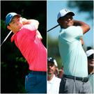 Rory McIlroy and Tiger Woods were on top form on Thursday.