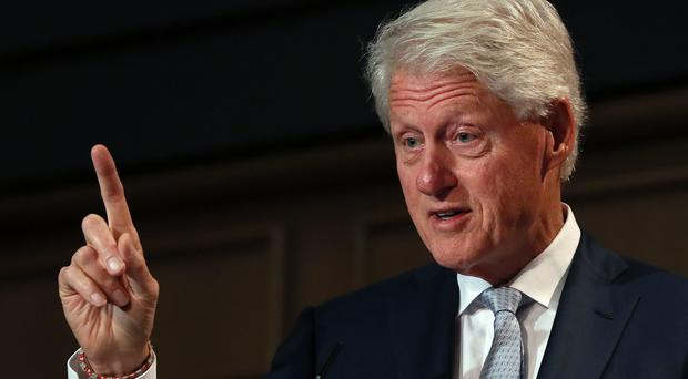 Bill Clinton was speaking at a Concern Worldwide conference in Dublin (Brian Lawless/PA)