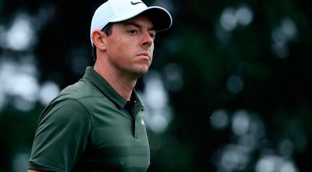Rory McIlroy in the second round of the BMW Championship at Aronimink Golf Club on September 7, 2018 in Newtown Square, Pennsylvania. (Photo by Cliff Hawkins/Getty Images)