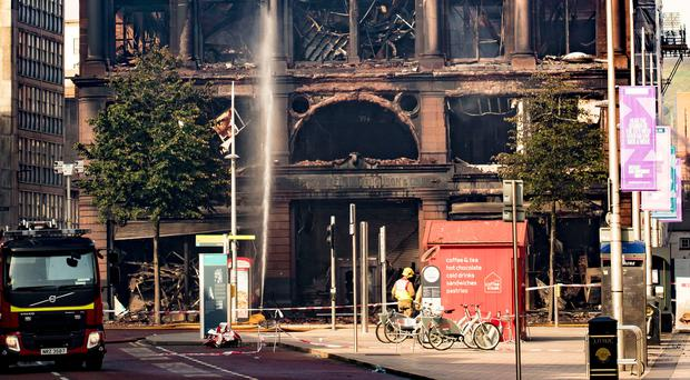 Bank Buildings after the recent blaze