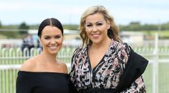 Press Eye - Belfast - Northern Ireland - 7th September 2018 - West Coast Cooler Race Evening at DownRoyal Racecourse. Judith Allen and Katharine Kimber pictured at Down Royal. Photo by Kelvin Boyes / Press Eye.