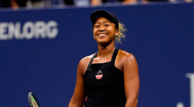 Showdown: Naomi Osaka after victory over Madison Keys
