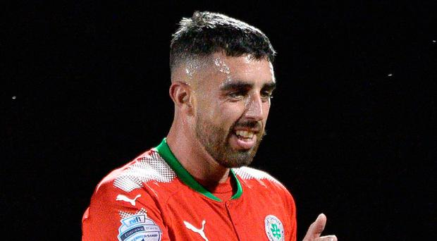 Goal king: Joe Gormley after his second goal last night