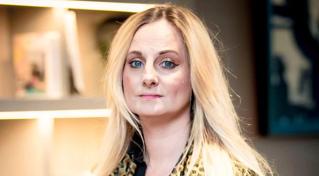 Courageous: Rape victim Christine Jones at the AC Marriot hotel in Belfast