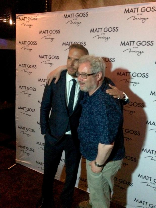Our man Stephen with former Bros star Matt Goss after his performance at the Mirage.
