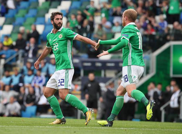 Will Grigg - 6 - Given the chance to start — his first at Windsor — but unlike the Bosnia game didn't score or make a big impact. Worked hard in lone front role.