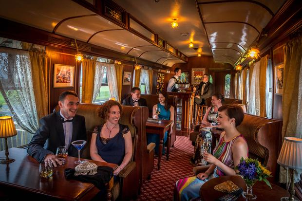 The Pullman Restaurant in a former carriage of the famous Orient Express which also formed part of Sir Winston Churchill's funeral train in 1965.