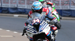 Supersport star: Alastair Seeley enjoyed a great weekend at Silverstone