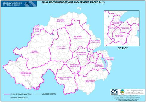 The final recommendation proposes 17 constituencies.