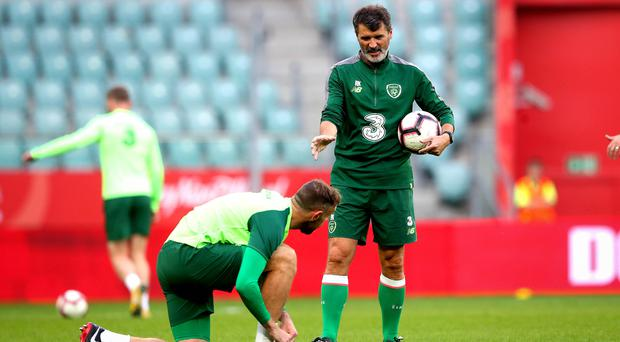 Kitted out: Roy Keane in Poland