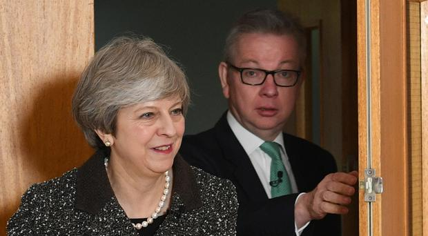 Michael Gove has said rumours of a bid to oust Theresa May is 'loose talk' (Stefan Rousseau/PA)