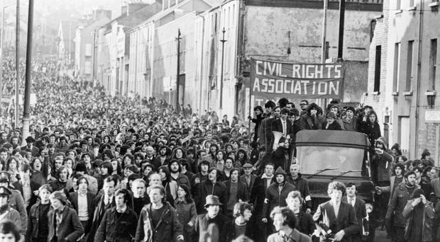 Civil rights march in Londonderry