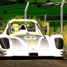 Full throttle: Dungiven driver Gerard O'Connell in his Radical will be revved up to claim this year's hillclimb championship