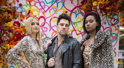 Belfast is open for business ! Belfast One in association with Belfast Fashion Week hold a fashion show by local retailers in Arthur Street on September 13th 2018, two weeks on from the Bank Buildings fire. (Photo by Kevin Scott for Belfast Telegraph)
