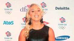 Aimee Fuller arrives for the Team GB Ball