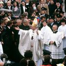 Pope John Paul II during his visit to the Knock Shrine (PA)