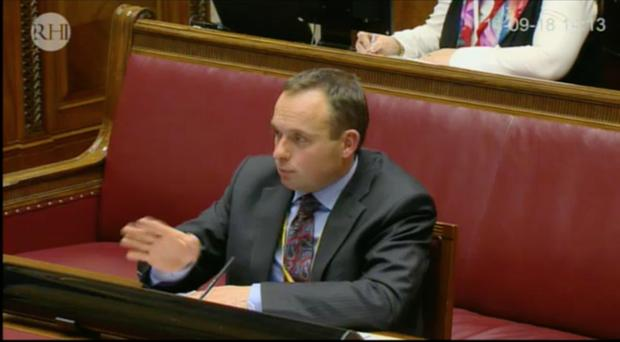 Andrew Crawford gives evidence to the RHI Inquiry.