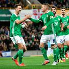 Jonny Evans and Steven Davis are Northern Ireland's top-rated current players
