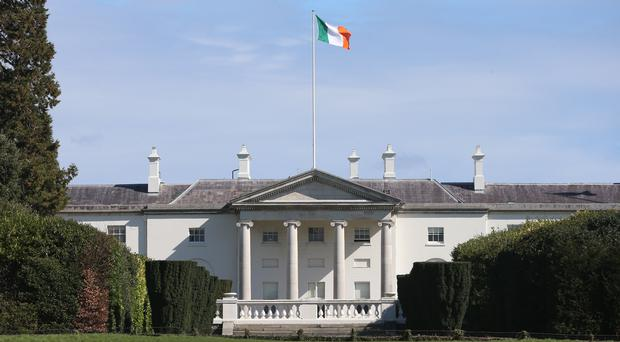 Aras an Uachtarain is the home of the Irish President in Phoenix Park, Dublin (Niall Carson/PA)
