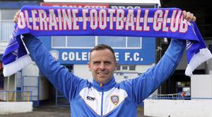 Rodney McAree has been unveiled as Coleraine's new manager. Credit: Coleraine FC and Maurice Bradley.