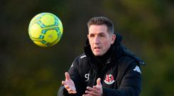 In hand: Stephen Baxter insists Crusaders' decision to adopt a full-time approach isn't the reason for their slow start