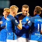 High belief: Glenavon ace Stephen Murray is confident of inflicting Stute's first defeat at The Brandywell