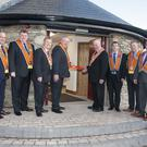 Officials cutting the ribbon at the official opening (PA)