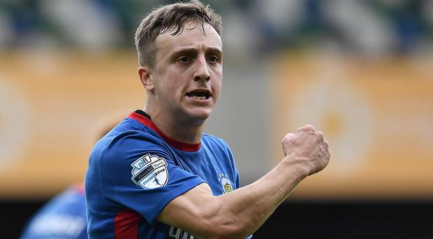 Joel Cooper impressed again for Linfield.