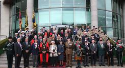 Wreaths were laid by the Lord Lieutenant of County Antrim, the Council, the Armed Forces, the NMBVA, the RAMC Association and the Royal British Legion (Lisburn Branch). Pictures by Steven McAuley/ McAuley Multimedia