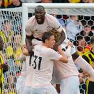 Manchester United's Belgian striker Romelu Lukaku was on target against Watford.