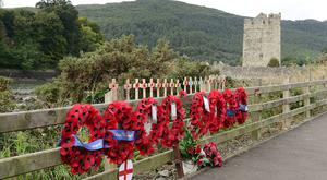 Narrow Water memorial was reinstated on Sunday after the attack. Picture By: Arthur Allison/Pacemaker Press