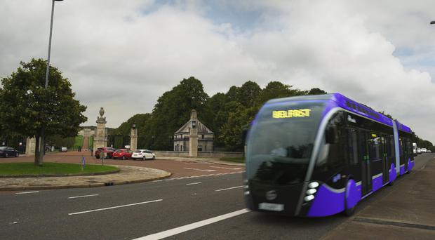 The Glider's bi-lingual signs will revert to English only when passing Stormont.