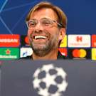 Just for laughs: Liverpool boss Jurgen Klopp at his pre-match press conference