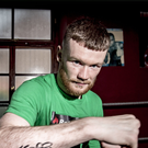 Hard hitter: James Tennyson trains at Kronk gym in Belfast yesterday