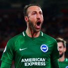 Spot on: Brighton's Glenn Murray hails his late penalty