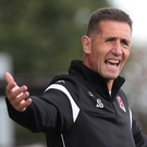 Glory trail: Stephen Baxter wants the Co Antrim Shield to continue resting in the Seaview boardroom