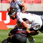 Welcome return: Marcell Coetzee played his first full 80 minutes after injury against the Southern Kings
