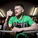 James Tennyson trains at Kronk gym in Belfast ahead of his world title fight.