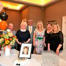 Charity day: Jo-Anne Dobson (third from right) at the MS event in the Belmont Hotel organised by Marianna Ervine (far right)