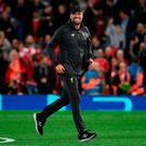Happy man: Jurgen Klopp is all smiles after Pool's victory