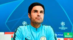 Big time: Mikel Arteta will call the shots from City's dugout