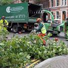 Clear up begins in Bedford Street Belfast as storm Ali takes it's toll. Pic Freddie Parkinson Presseye
