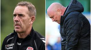 Kenny Shiels' Derry City are still playing tonight, as things stand, but David Jeffrey's Ballymena United will not play their County Antrim Shield tie.