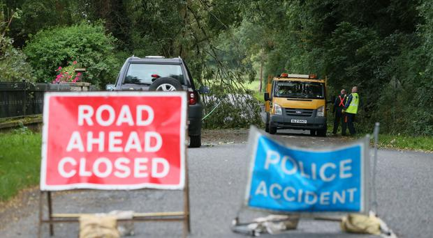 A man died after being hit by a tree at Slieve Gullion forest park in County Armagh during Storm Ali (Brian Lawless/PA)